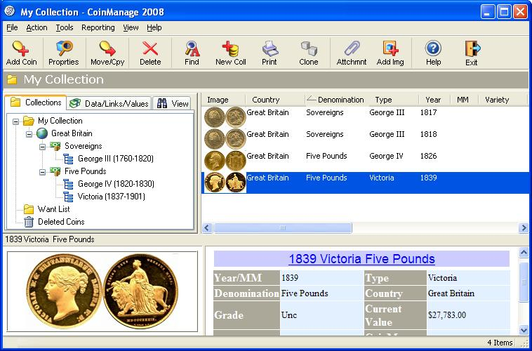 CoinManage UK Coin Collecting Software Download