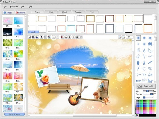 Screenshot Review Downloads Of Shareware Collage Fx Studio