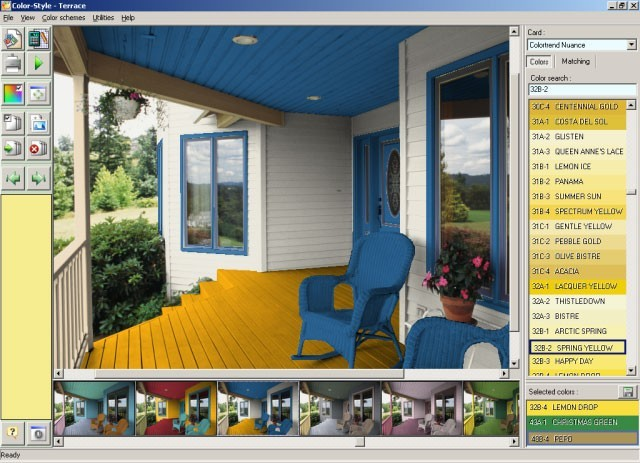 Screenshot Review Downloads Of Shareware Color Style Studio Exterior Paint