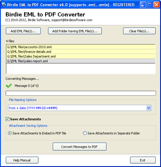 Convert EML to PDF Download