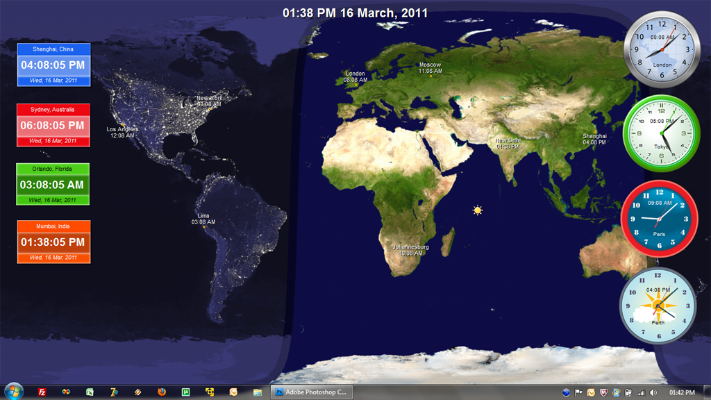 Download time zone clock for desktop buffalofix19 there is another free world clock called qlock to know the world times on time zones with world clock desktop time in different time zones download gumiabroncs Image collections