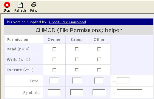 Credit CHMOD Calculator Download