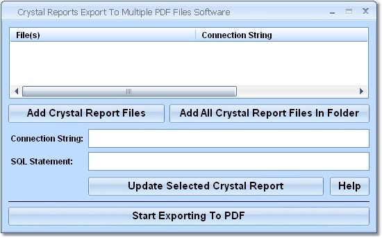 Crystal Reports Export To Multiple PDF Files 7.0