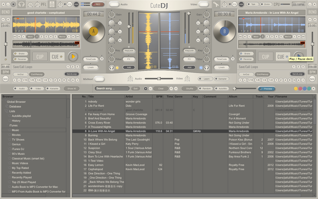 CuteDJ - DJ Software Download