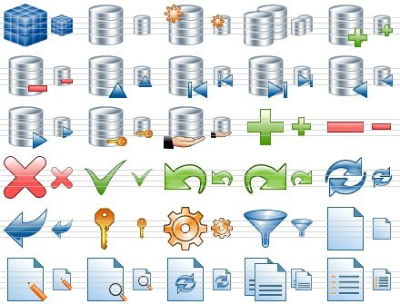Database Toolbar Icons Download