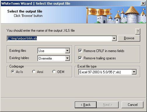 DBF to XLS (Excel) Converter Download