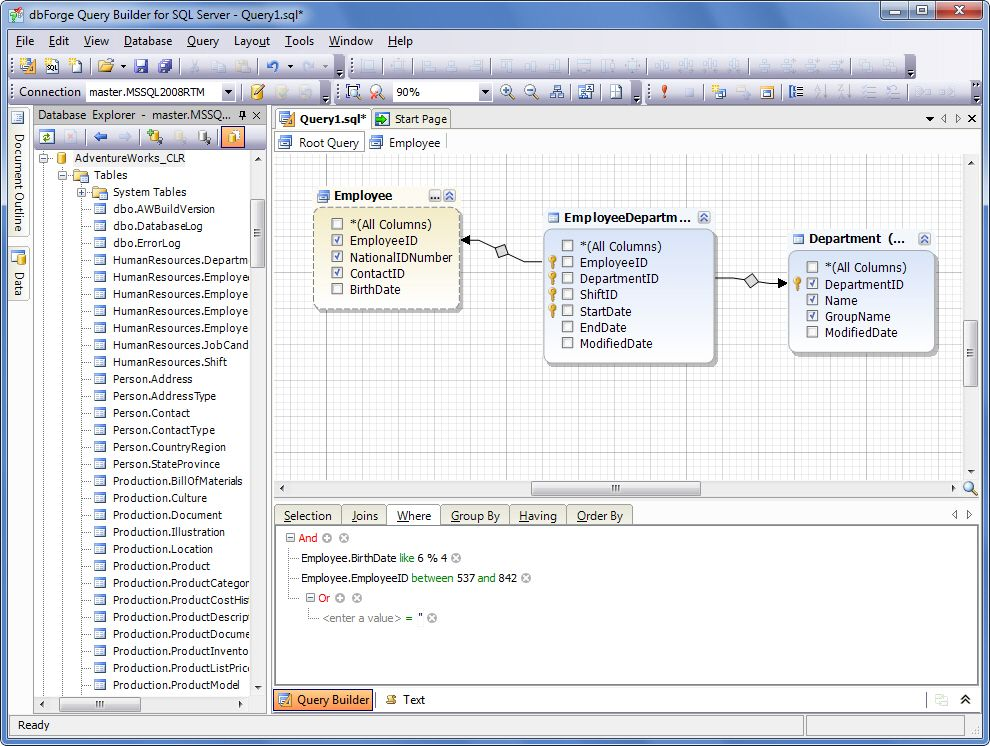 dbForge Query Builder for SQL Server Download
