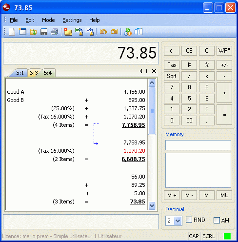 Deskcalc - Desktop adding machine Download