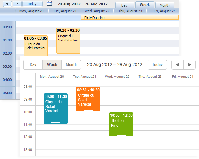 DHTMLX Scheduler .NET for ASP.NET Download