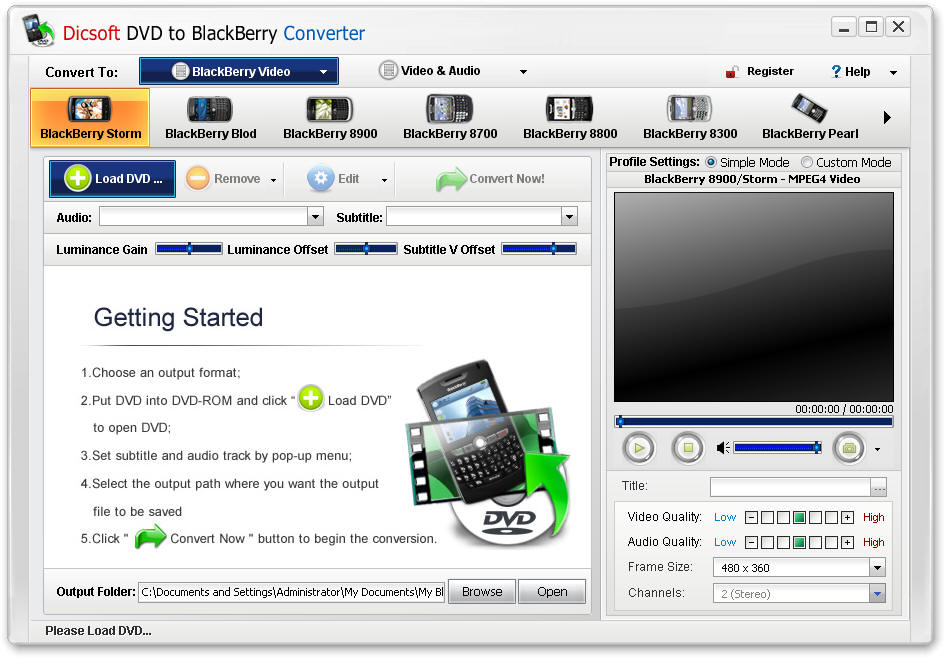 Dicsoft DVD to BlackBerry Converter Download