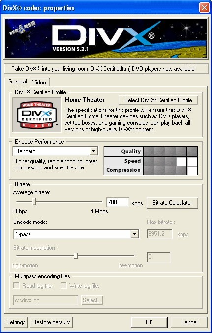 DivX Player (with DivX Codec) for 2K/XP Download