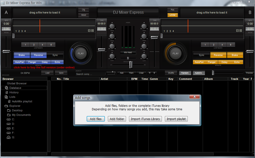 DJ Mixer Express for Windows Download