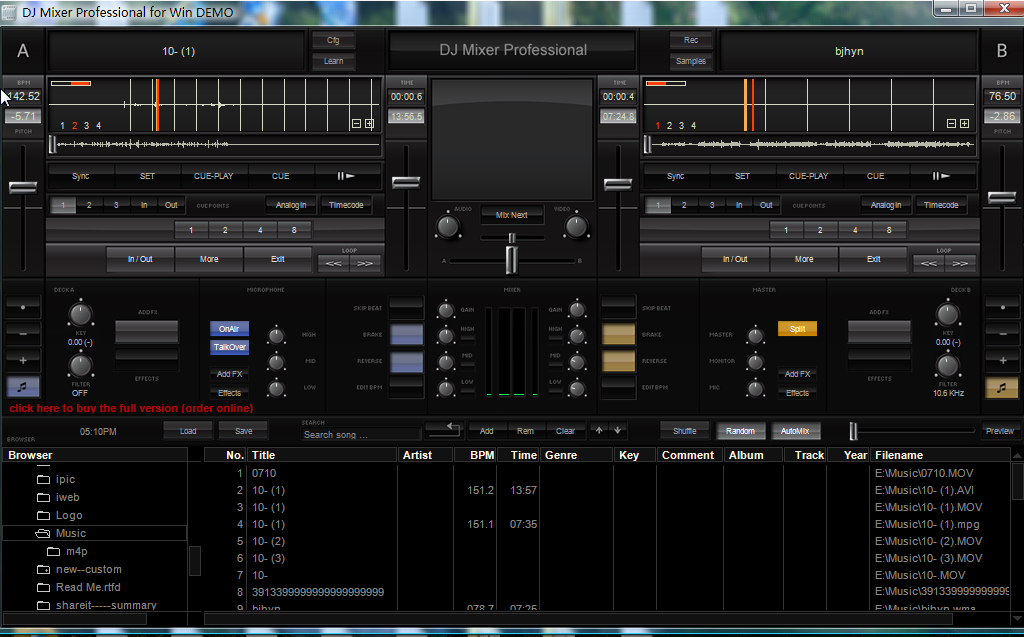DJ Mixer Professional for Windows Download