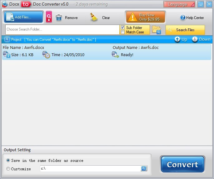 Docx to Doc Converter Download
