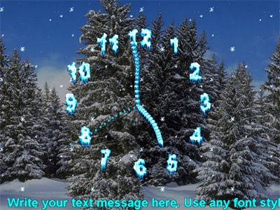 Screensavers on Screenshot  Review  Downloads Of Shareware Drunken Clock Screensaver
