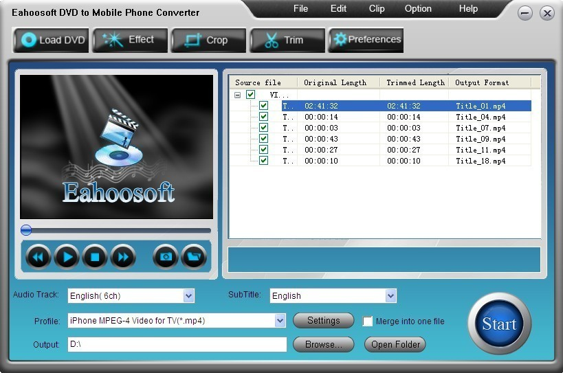 Eahoosoft DVD to Mobile Phone Converter Download