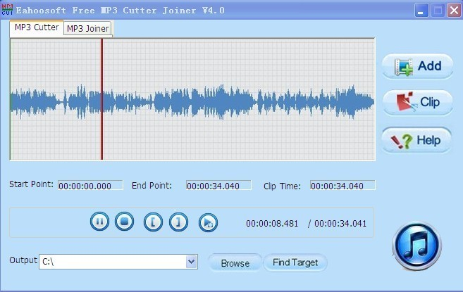 Eahoosoft Free MP3 Cutter Joiner Download
