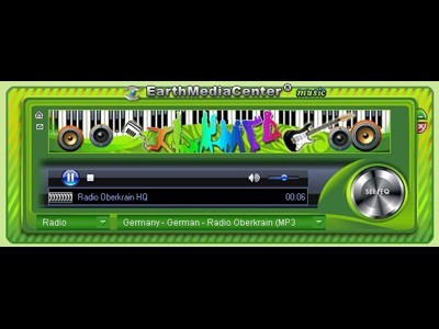 EarthMediaCenter online music radio Download