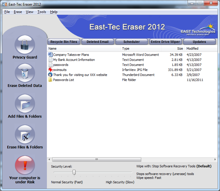 East-Tec Eraser 2012 Download