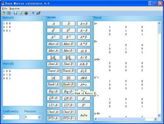 Hansoft - Matrix Calculator, Calculate.