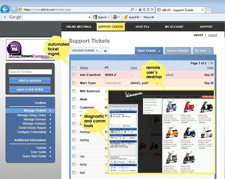 eBLVD Support Center and HelpDesk Download