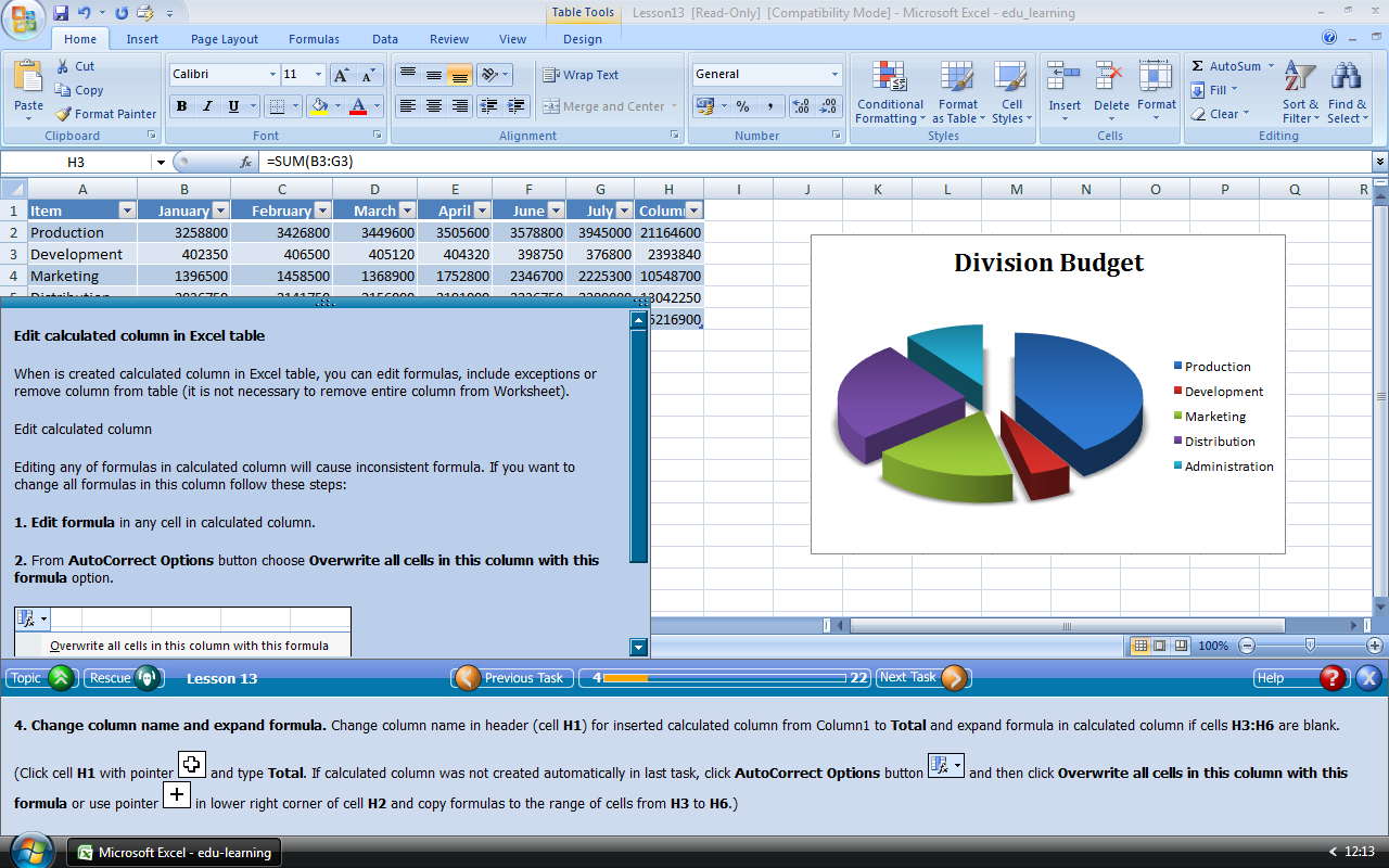 Edu-learning for Word, Excel and PowerPoint 2007 EN Download