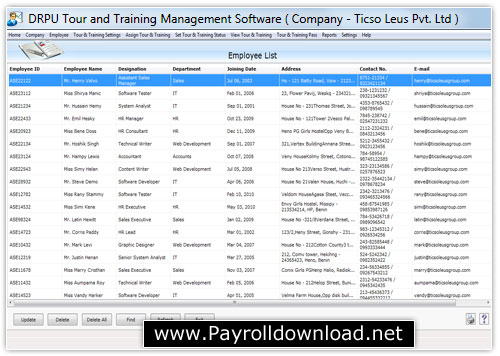 Employee Tour Training Software Download
