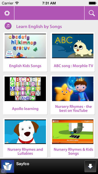 English for kids - Video learning english for kid Download
