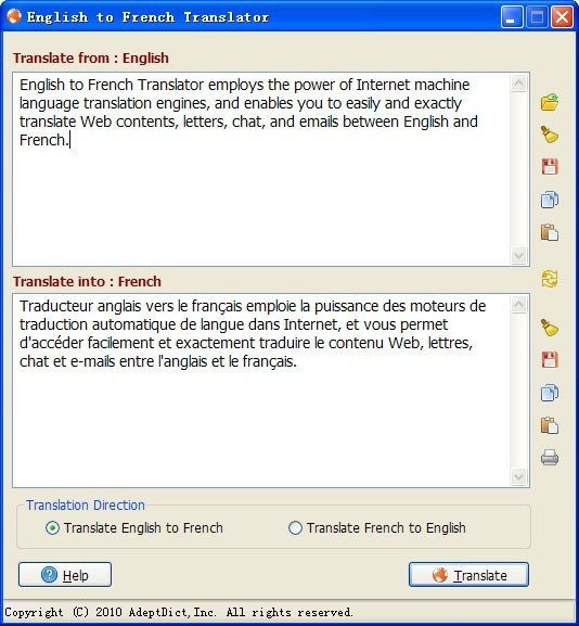 English to French Translator Download