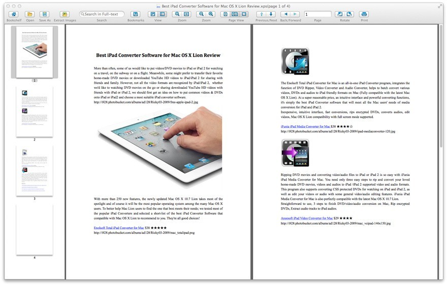 Enolsoft XPS Viewer for Mac Download