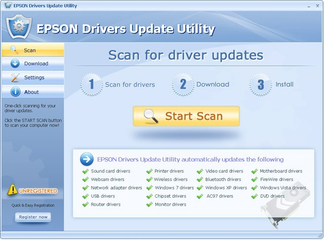 EPSON Drivers Update Utility For Windows 7 Download