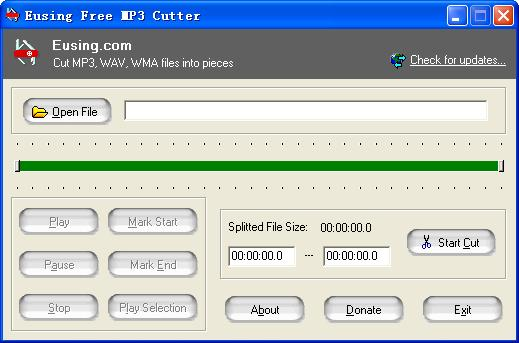 Eusing Free MP3 Cutter Download