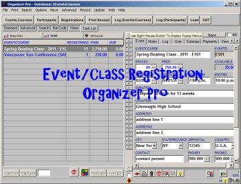 Event/Class Registration Organizer Pro Download