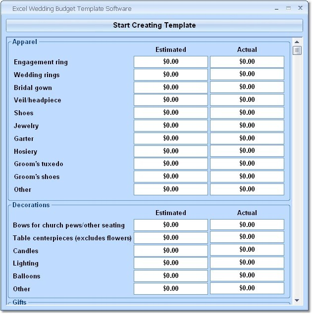 Excel Wedding Budget Template Software Download