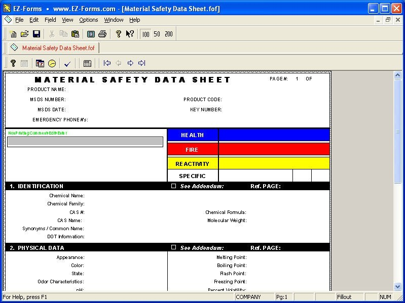 EZ-Forms-MSDS Download