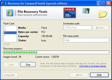 F-Recovery for CompactFlash Download