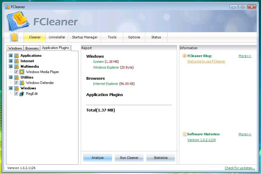 FCleaner Portable Download