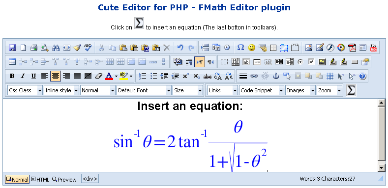fMath Editor - Cute Editor Plugin Download