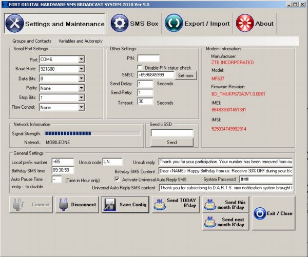 Fort Digital Hardware SMS Broadcast Sys Download
