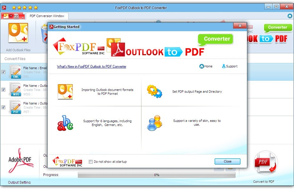 FoxPDF Outlook to PDF Converter Download