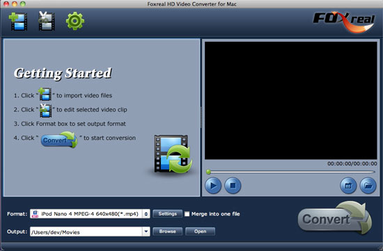 Foxreal HD Video Converter for Mac Download