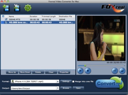 Foxreal Video Converter for Mac Download