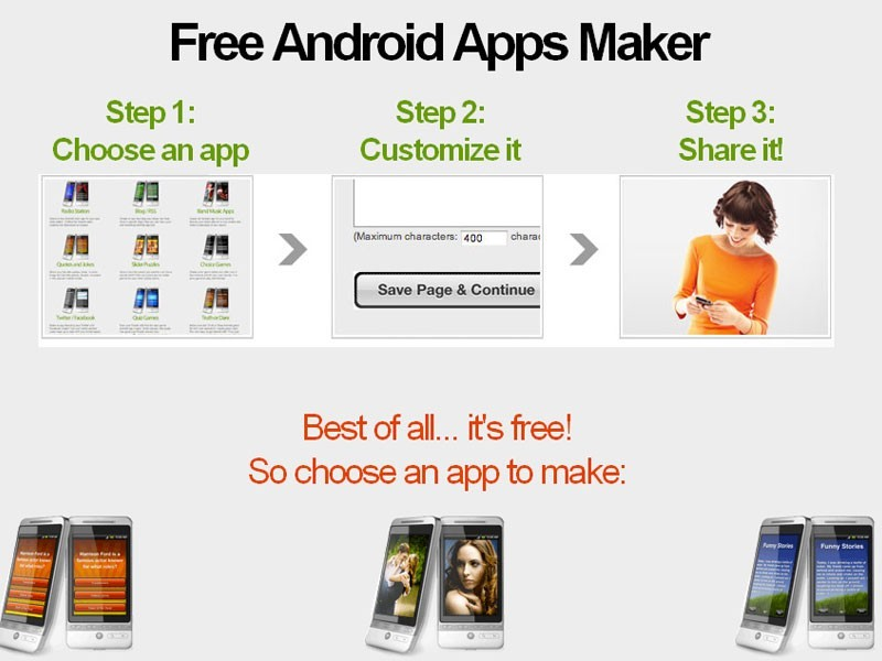 Free Android app maker Download
