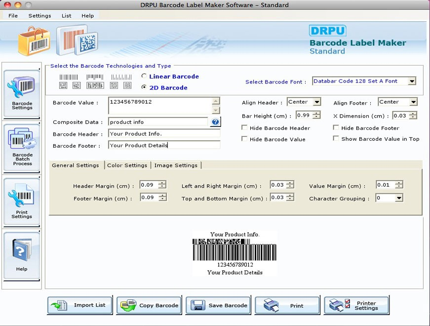 Free Barcode Generator for Mac OS X Download