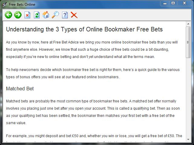 Free Bets Online Ebook Download