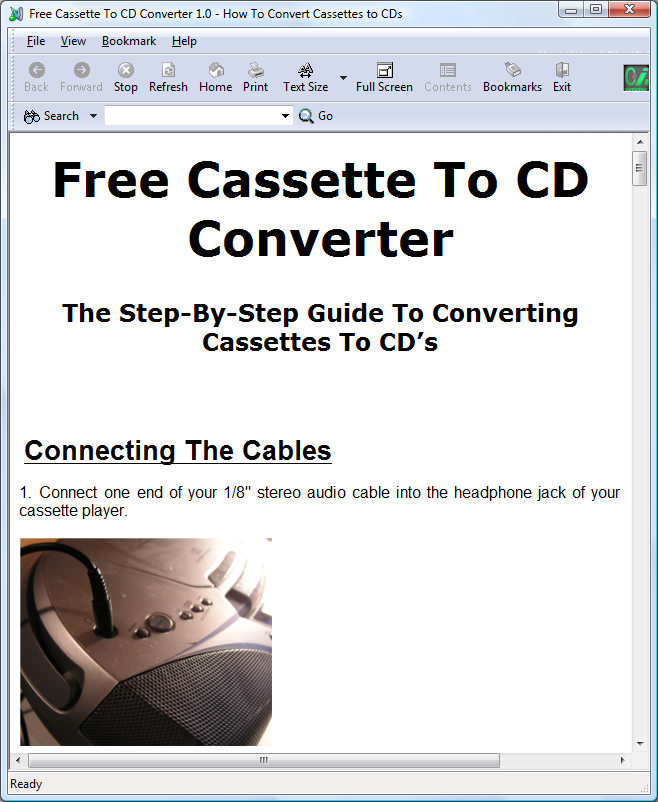 Free Cassette To CD Converter Download