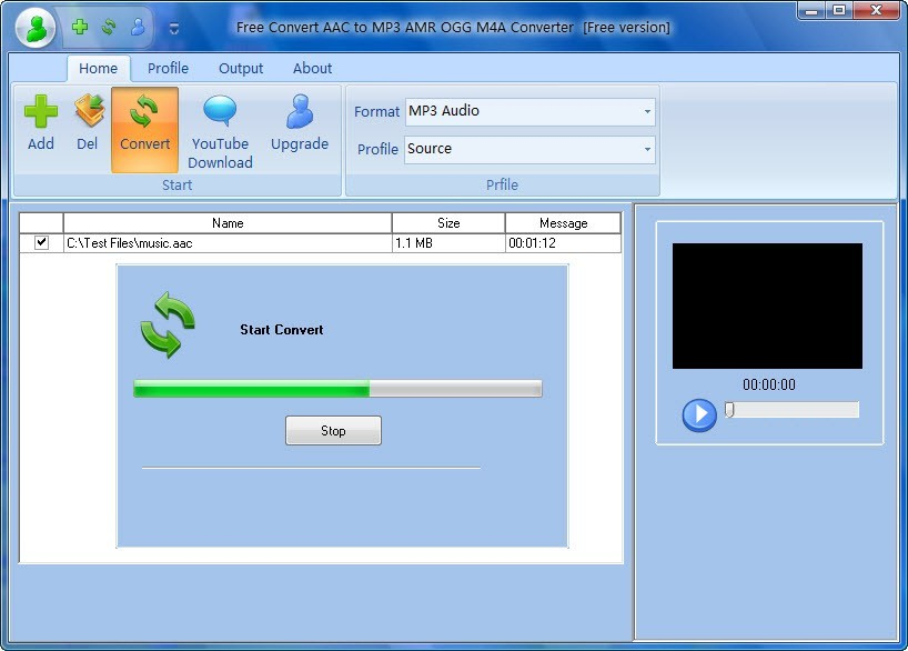 Free Convert AAC to MP3 AMR OGG M4A Download