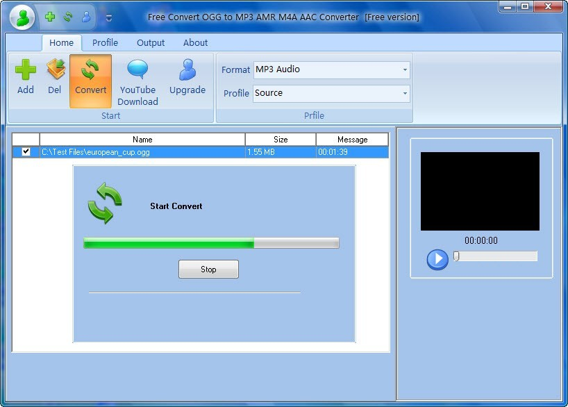 Free Convert OGG to MP3 AMR M4A AAC Download