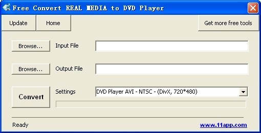 Free Convert REAL MEDIA to DVD Player Download