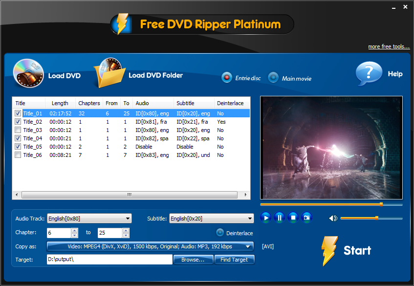 Free DVD Ripper Platinum Download